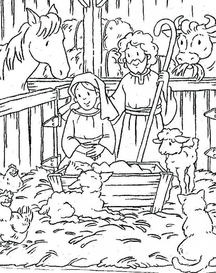 Printable Religious Christmas Coloring Pages Religious Coloring ..