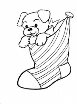 puppy-dog-in-a-christmas-stocking-coloring-page – SearchBulldog