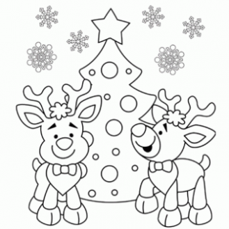 Reindeer Coloring Page – Free Christmas Recipes, Coloring Pages for ..