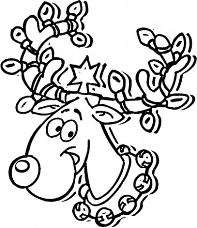 Reindeer Ready For Christmas coloring page | Free Printable Coloring ..