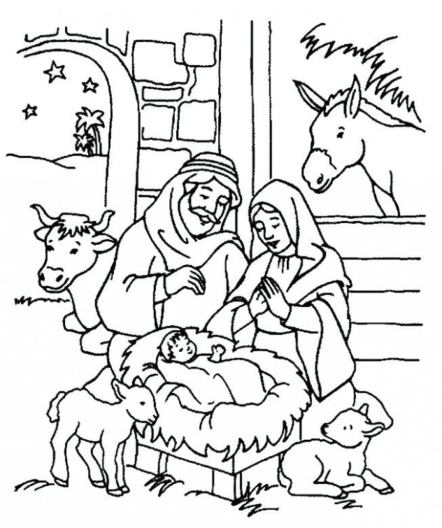 Religious Christmas Coloring Pages | Fun Time – Christmas Coloring Pages Christian