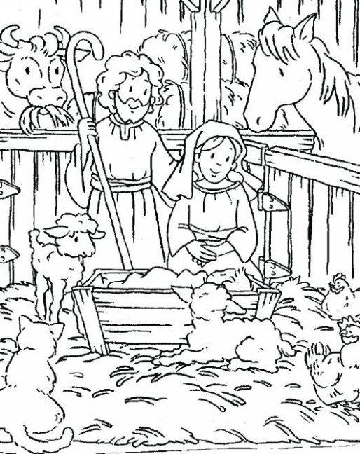 Religious Christmas Coloring Pages | Fun Time