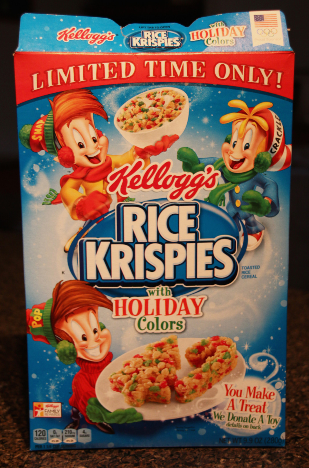 Review: Rice Krispies with Holiday Colors Cereal