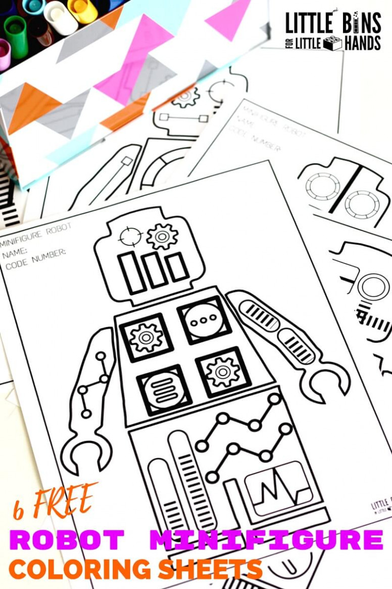 Robot Coloring Pages with Free Printable Coloring Sheets - Christmas Robot Coloring Pages