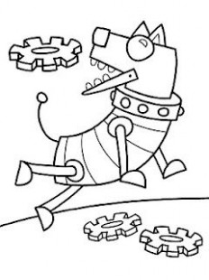 Robot Dog | Robot Theme | Dog coloring page, Coloring pages, Pattern ..