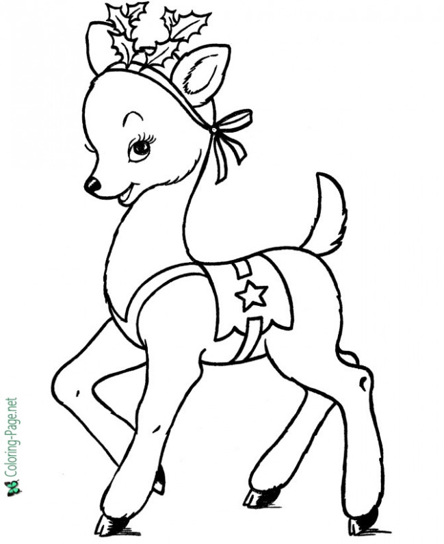 Rudolph Christmas coloring page – Christmas Coloring Rudolph