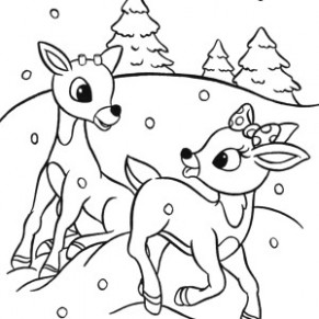 Rudolph Color Page Coloring Pages | coloring pages - Christmas Coloring Rudolph