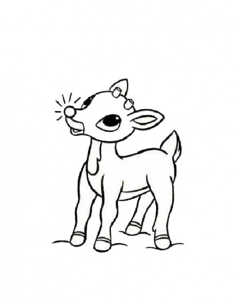 Rudolph the red-nosed reindeer coloring page | Christmas Arts and ..