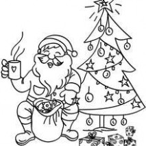 SANTA CLAUS coloring pages - 20 Xmas online coloring books and ...