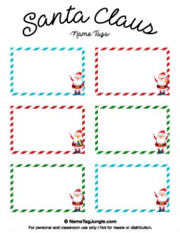 Santa Claus Name Tags | Christmas Ideas For Preschool | Christmas ...