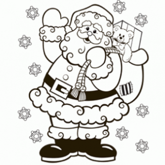 Santa Coloring Page – Free Christmas Recipes, Coloring Pages for ..