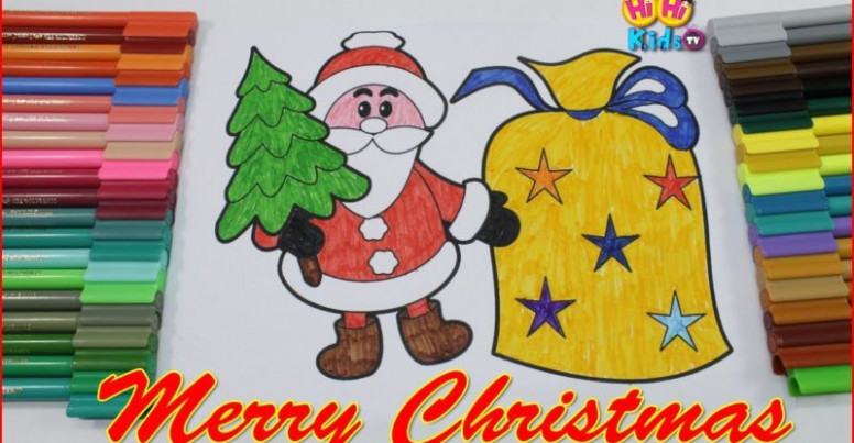 Santa Coloring Pages for Toddlers   Christmas Coloring video   Learn ..