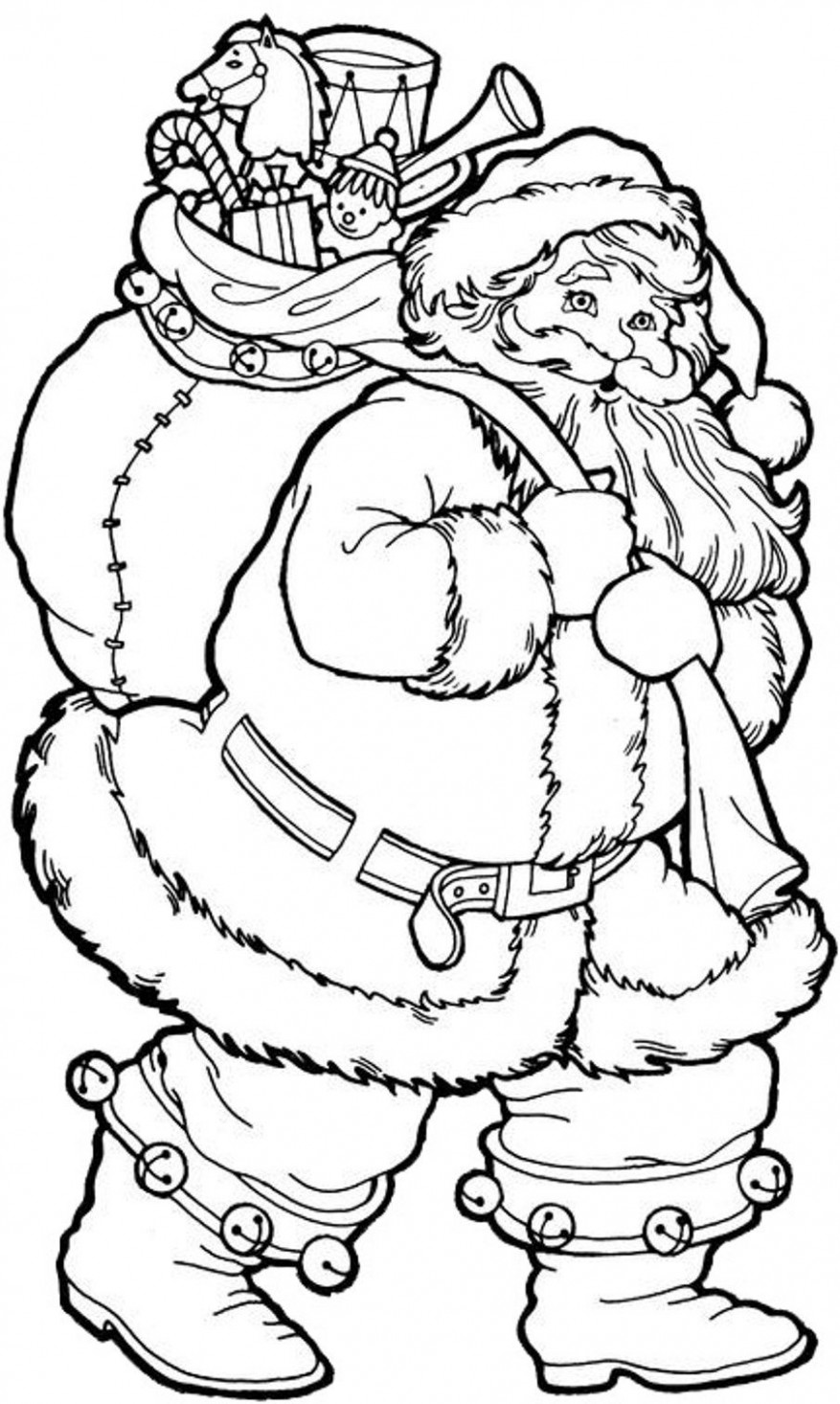 Santa Coloring Pages | Holiday Coloring Pages | Santa coloring pages ...