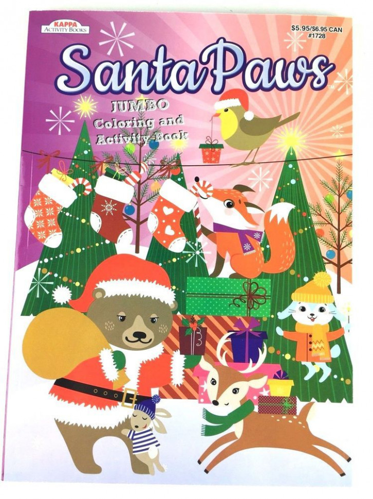 Santa Paws Christmas Jumbo Coloring and Activity Book for Kids ...