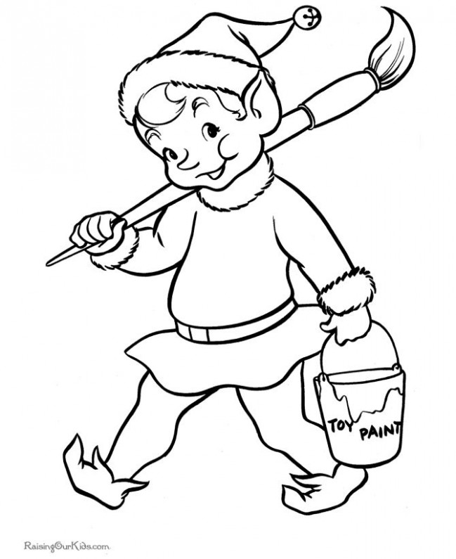 Santa's Elf Christmas printable coloring pages! | CHRISTMAS, SANTA ...