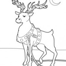 SANTA'S REINDEER coloring pages – 18 Xmas online coloring books and ..