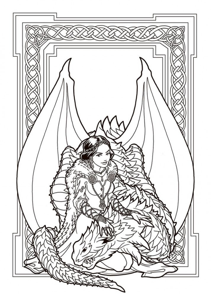 scary dragon coloring pages color page free colouring. dragon ...