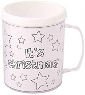 Set of 13 Christmas Coloring Mugs /Color Your Own / Holiday ..