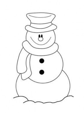 simple snowman coloring pages | Printable Christmas Coloring Pages ..