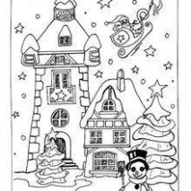 Snow-covered house coloring pages – Hellokids