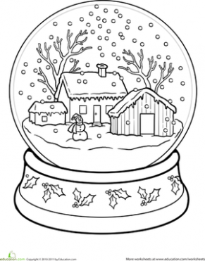 Snow Globe Coloring Page | CHRISTMAS | Adult coloring pages ...