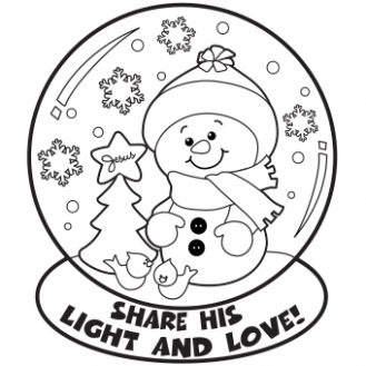 Snow Globe Coloring Page - Free Christmas Recipes, Coloring Pages ...