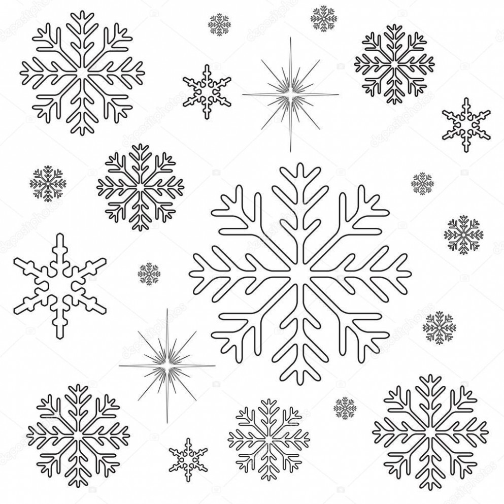 Snowflakes Christmas Coloring Page — Stock Photo © smk17 #17 – Christmas Coloring Pages Snowflakes
