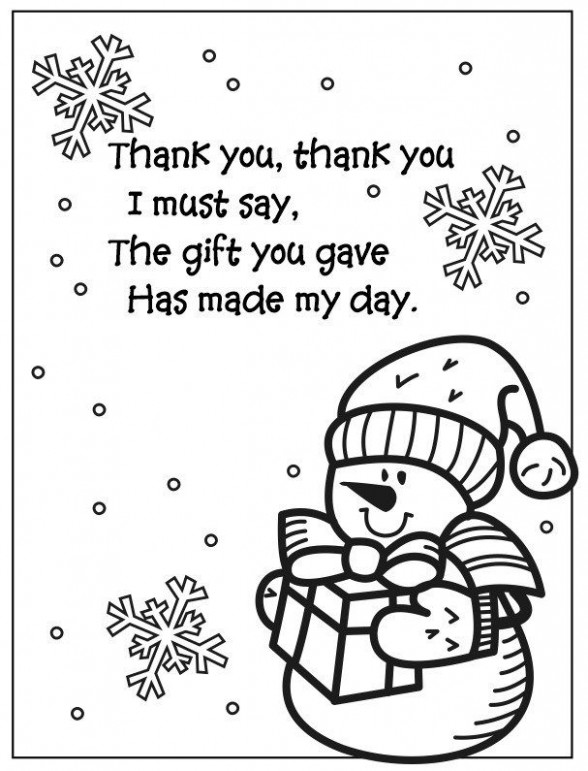 Snowman Coloring Page Thank You Poem | frosty the snowman | Snowman ..
