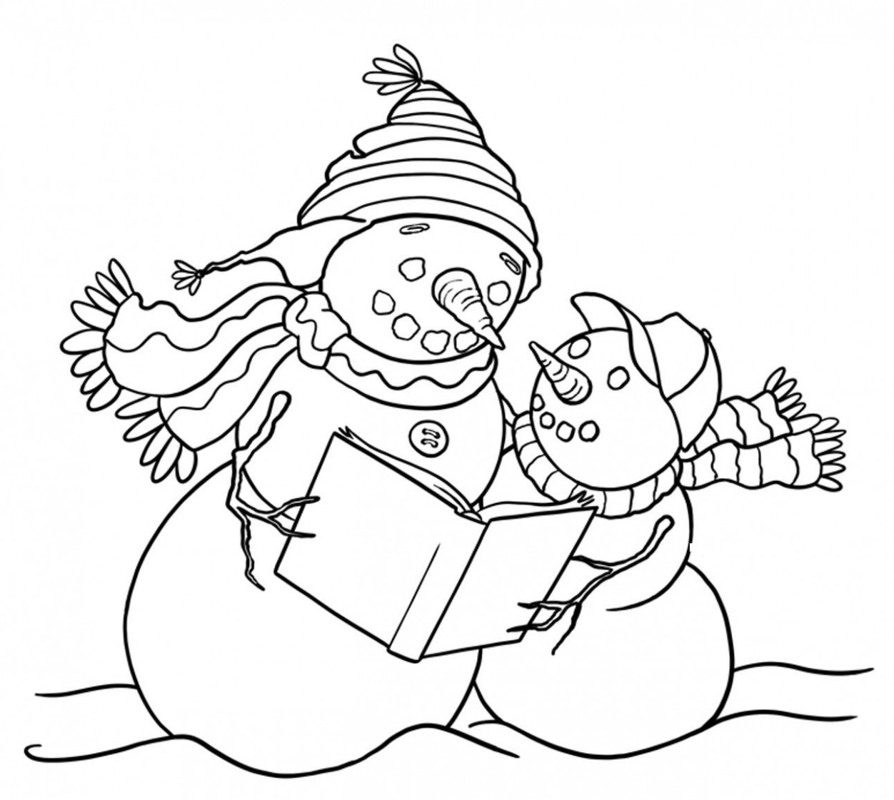 Snowman Coloring Pages | Holiday Coloring Pages | Printable ..