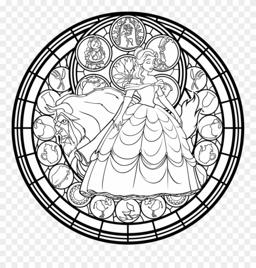 Stained Glass Christmas Coloring Pages Suitable Combine – Beauty And ..