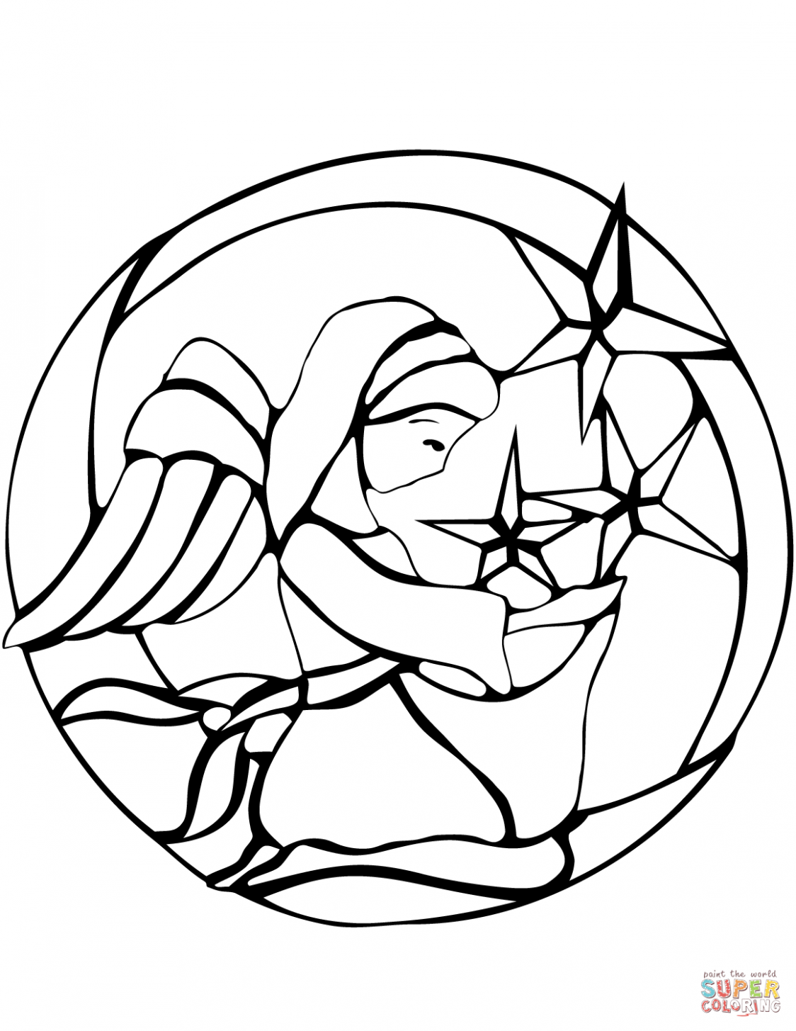 Stained Glass coloring pages | Free Coloring Pages – Christmas Coloring Pages Stained Glass