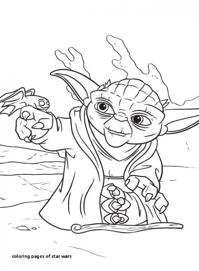 Star Wars Christmas Coloring Pages Awesome Yoda Coloring Pages ...