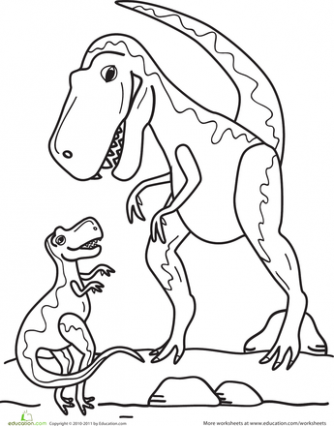T-Rex Family Coloring Page | Preschool | Family coloring pages ...