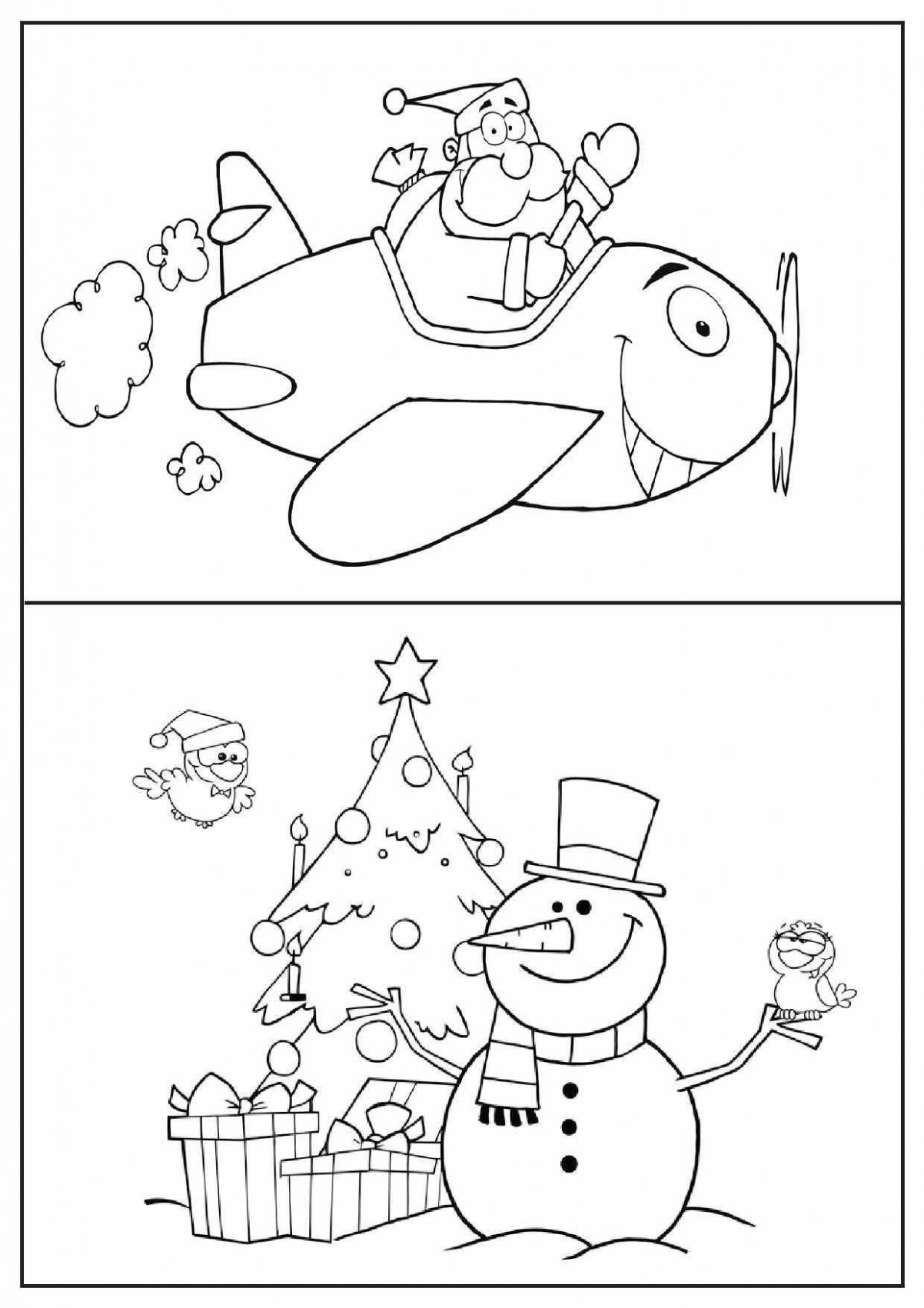 teacher designed, classroom ready Christmas coloring pages ..