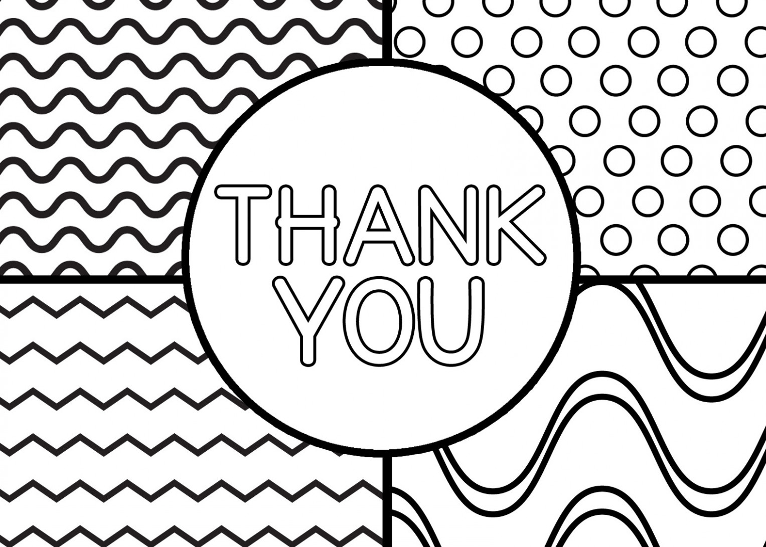 thank you card coloring page - Villa-chems