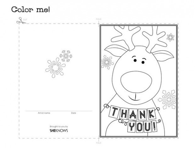 Thank You Cards Printable Coloring Page | Thank yous | Free thank ..