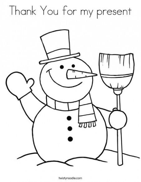 Thank You for my present Coloring Page - Twisty Noodle - Christmas Coloring Pages Twisty Noodle