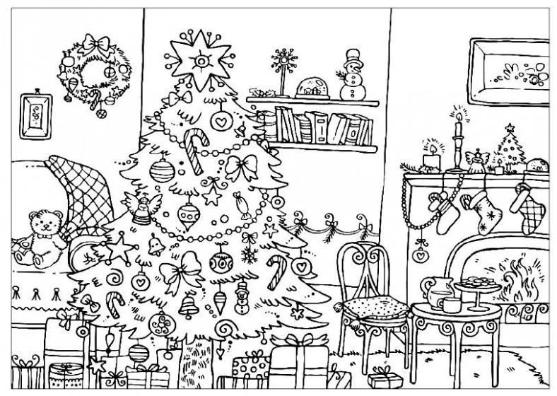 The Best Ideas for Hard Christmas Coloring Pages Printable | Best ...