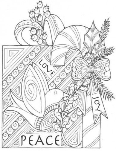 The Gift of Peace, Love, and Joy Coloring Page | coloring pages ..