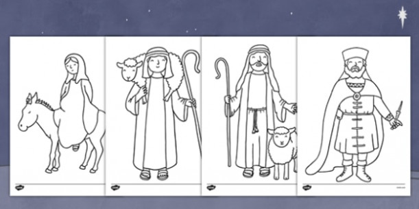 The Nativity Colouring Pages – nativity, colour pages, christmas – Christmas Coloring Pages Twinkl