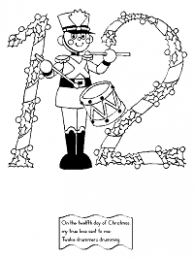 The Twelve Days of Christmas Coloring Pages – Printable 12 Days Of Christmas Coloring Pages