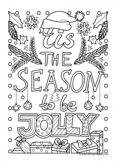 Tis the season to be jolly colouring page | Xmas coloring | Kids ..
