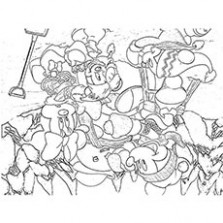 Top 14 Free Printable Disney Christmas Coloring Pages Online