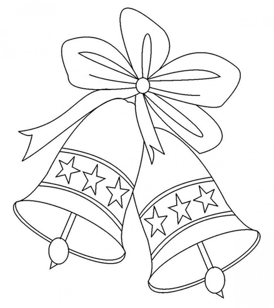 Top 16 Free Printable Cute Bell Coloring Pages Online – Christmas Colouring Pages Bells