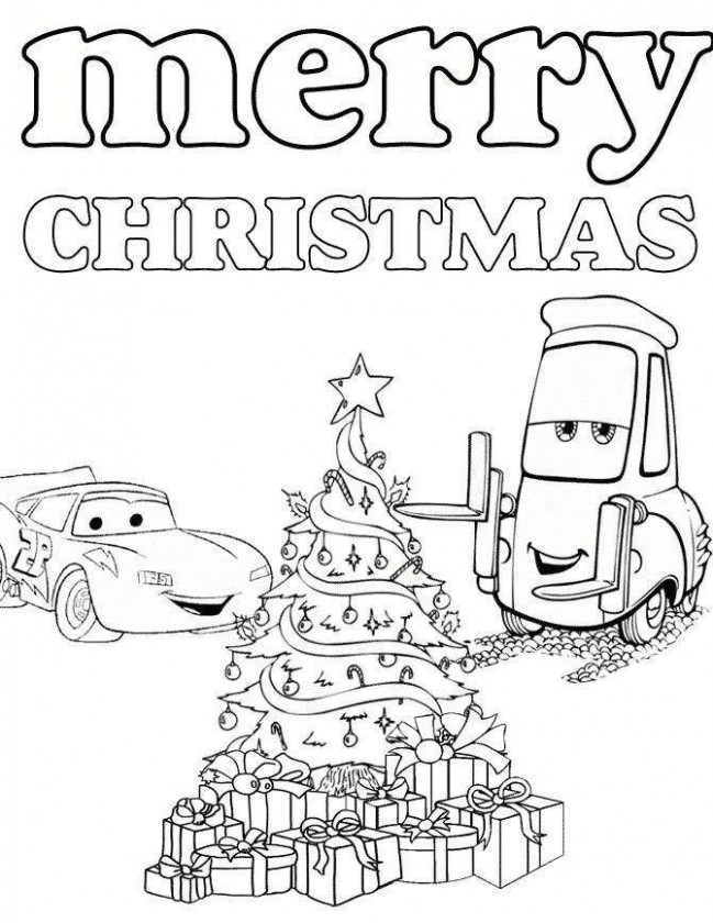 Top 17 Free Christmas Coloring Pages – Lightning Mcqueen Christmas Coloring Pages