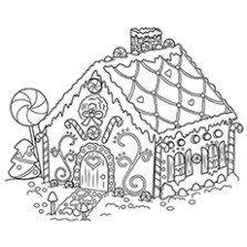 Top 17 Free Printable Christmas Coloring Pages Online – Christmas Coloring Sheets Gingerbread House