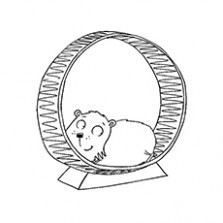 Top 18 Free printable Hamster Coloring Pages Online – Christmas Hamster Coloring Pages