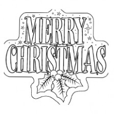 Top 20 Free Printable Christmas Coloring Pages Online – Merry Christmas Sign Coloring Pages
