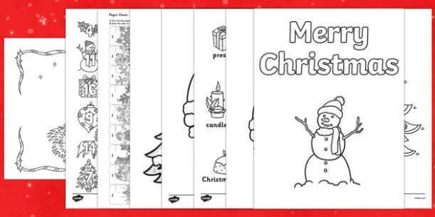 Top Ten Christmas Colouring Sheets Pack – Christmas Coloring Pages Twinkl