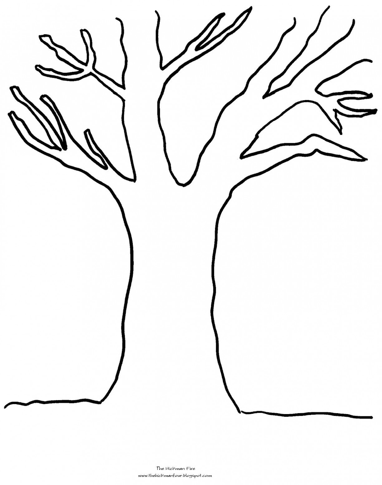 tree coloring pages with no leaves | Only Coloring Pages | Tree ..